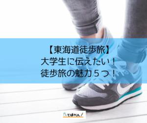 【東海道徒歩旅】大学生に伝えたい!徒歩旅の魅力5つをまとめる!